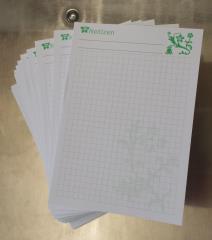 Blocks Notizen Blume - 16,8cm x 12cm, kariert - schwarz/grün -