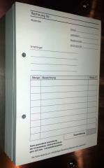 Blocks Rechnung Kleinunternehmer DIN A5 2-fach -