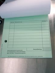 Blocks Rechnung Kleinunternehmer DIN A6 2-fach -