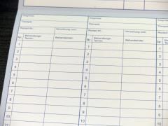 Patientenkarteikarten - Karteikarten Blau HKS 38K -