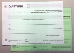 Quittungen - 2-fach - DIN A6 quer für Kleinunternehmer -