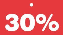 Schildchen 30 Prozent -