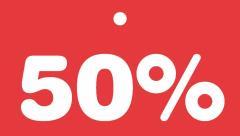 Schildchen 50 Prozent -