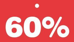 Schildchen 60 Prozent -