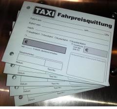 Taxiquittung -Fahrpreisquittung- - 2-fach - DIN A6 quer -