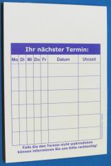 Terminzettel 1 - blau - DIN A7 - 50 Blatt -