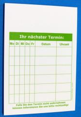 Terminzettel 1 - grün - DIN A7 - 50 Blatt -
