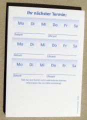 Terminzettel 2 - blau - DIN A7 - 50 Blatt -
