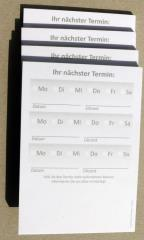 Terminzettel 2 - grau - DIN A7 - 50 Blatt -