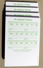 Terminzettel 2 - grün - DIN A7 - 50 Blatt -