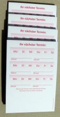 Terminzettel 2 - rot - DIN A7 - 50 Blatt -