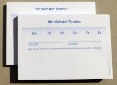 Terminzettel 3 - blau - DIN A7 - 50 Blatt -