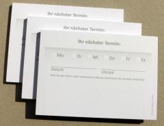 Terminzettel 3 - grau - DIN A7 - 50 Blatt -