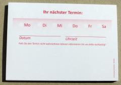 Terminzettel 3 - rot - DIN A7 - 50 Blatt -