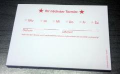 Terminzettel 4 - rot - DIN A7 - 50 Blatt -