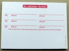 Terminzettel 6 - rot - DIN A7 - 50 Blatt -