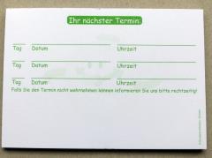 Terminzettel 7 - grün - DIN A7 - 50 Blatt -
