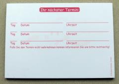 Terminzettel 7 - rot - DIN A7 - 50 Blatt -
