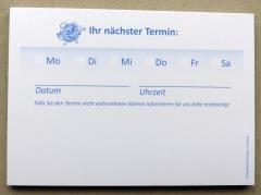 Terminzettel 8 - blau - DIN A7 - 50 Blatt -