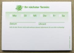 Terminzettel 8 - grün - DIN A7 - 50 Blatt -