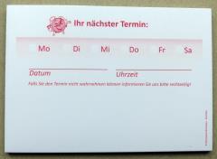 Terminzettel 8 - rot - DIN A7 - 50 Blatt -